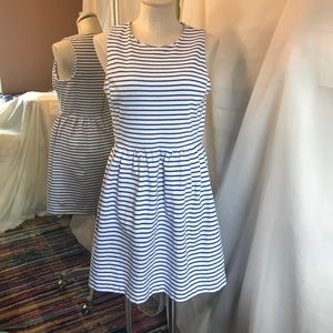 J Crew Striped Nautical Fit and Flare Dress